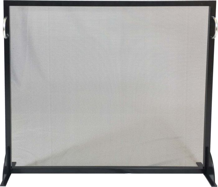 Dagan DG-S176 Black and Stainless Steel Fireplace Screen, 38x31.75-Inches