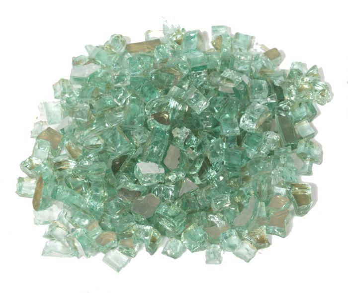 Dagan DG-TG-MINT 1/4-Inch Reflective Fire Glass, 10, Mint