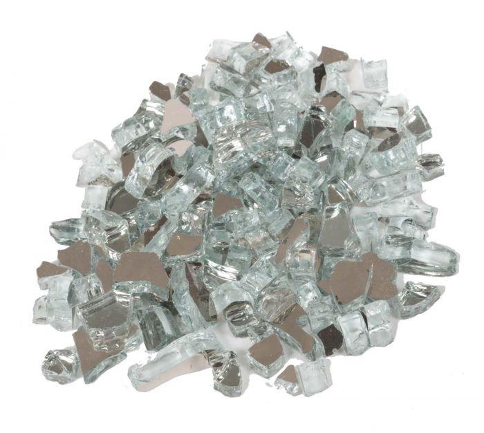 Dagan DG-TG-SILVER 1/4-Inch Reflective Fire Glass, 10, Silver