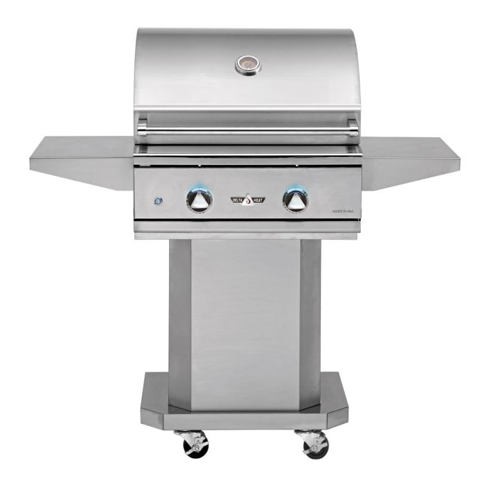 Delta Heat 26 Inch Gas Grill with Stainless Steel Pedestal