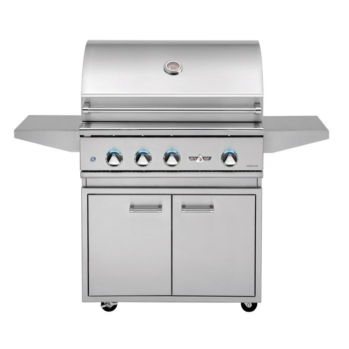 Delta Heat 32 Inch Gas Grill with Stainless Steel Base