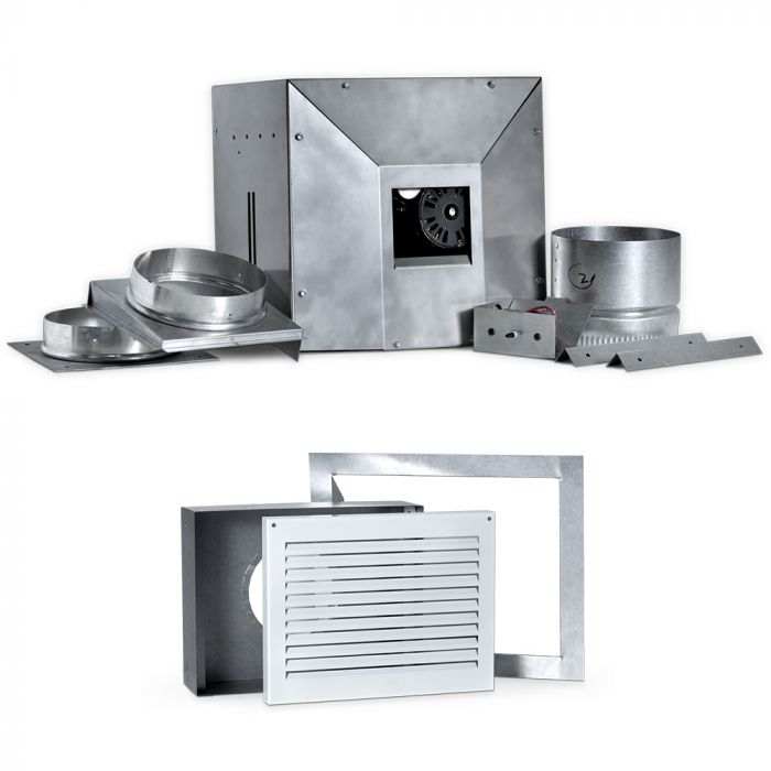 Napoleon DHCP-HK-DHCP-BK Dynamic Heat Control Plus Blower and Hot Air Grill Kit for Linear Direct Vent Gas Fireplaces