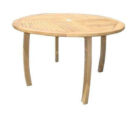 Royal Teak Collection DP50R Round Dolphin Teak Table, 50-Inch