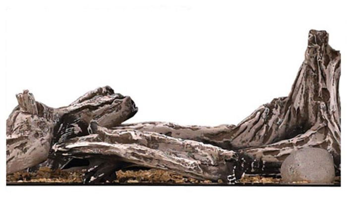 Napoleon Driftwood Log Set with River Rocks