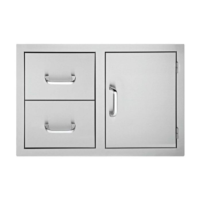 Delsol DSDD332 Door and 2-Drawer Combo, 33-Inch