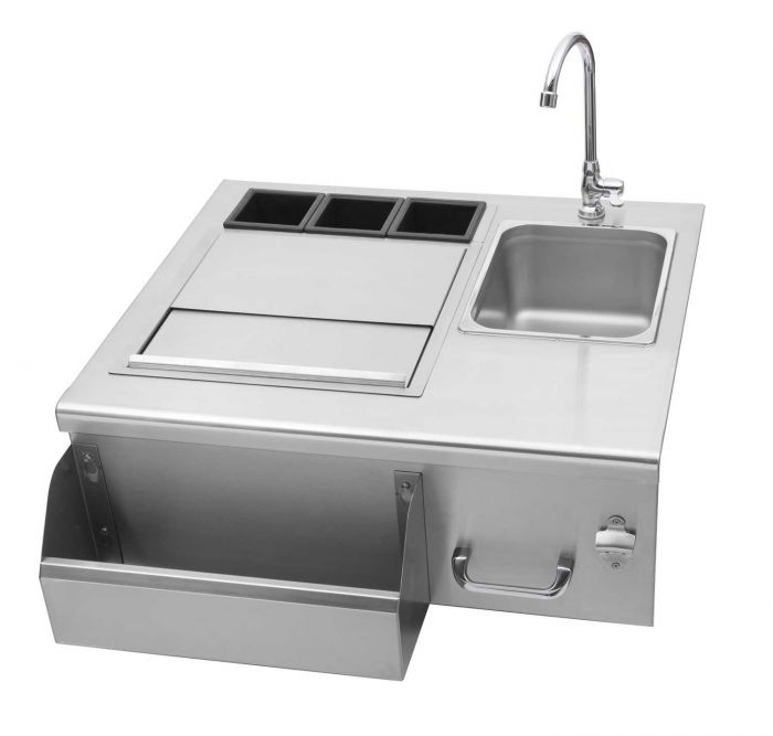 Delsol DSOB30 Outdoor Bar with Sink