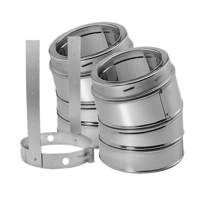 DuraVent 5DT-E15KSS DuraTech 5-inch Diameter 15 Degree Stainless Steel Elbow Kit