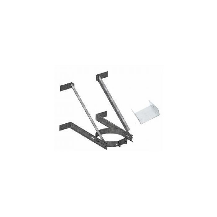 DuraVent 5DT-XWSx DuraTech Adjustable Extended Wall Support for 5 and 7-Inch Diameters