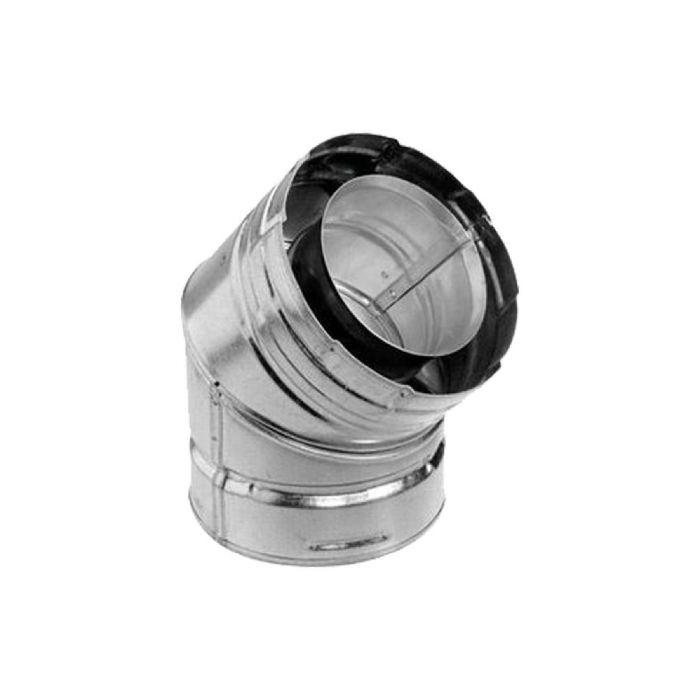 DuraVent DVA-E45B DirectVent Pro Black 45 Degree Elbow