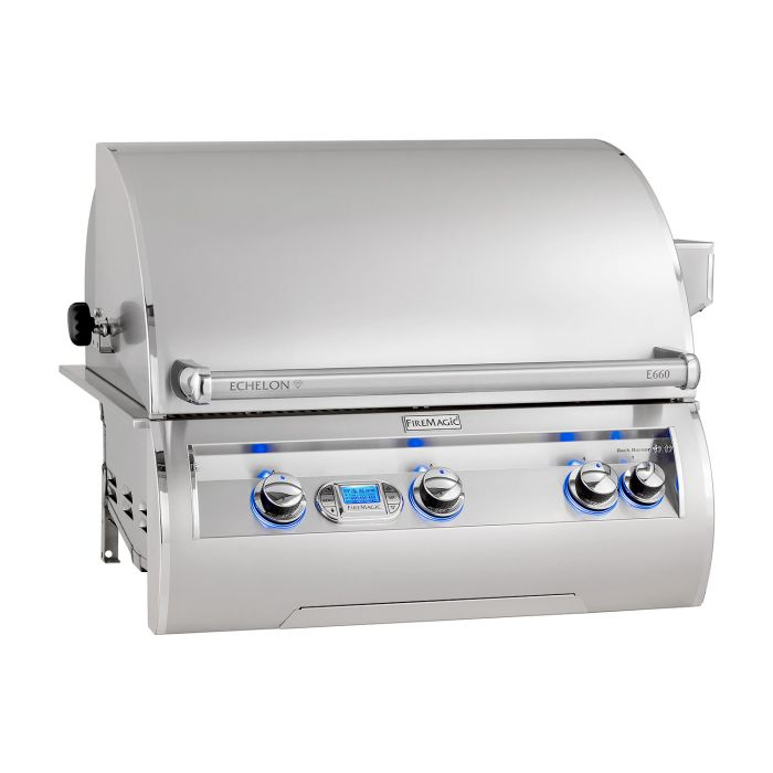 Fire Magic Echelon Diamond E660i Built-In Propane Gas Grill with One Infrared Burner and Magic View Window