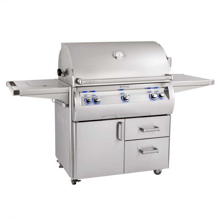 Fire Magic Echelon Diamond E790s Gas Grill On Cart with Single Side Burner