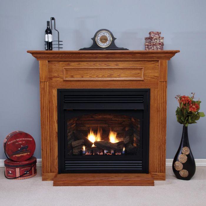 White Mountain Hearth EMBF3 Cabinet Mantel with Base for Breckenridge VFD36 Deluxe Firebox