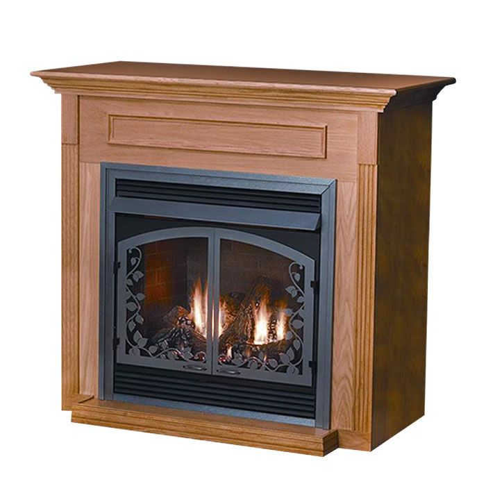 White Mountain Hearth EMF22 Cabinet Mantel with Base for Vail VFP24 Fireplaces