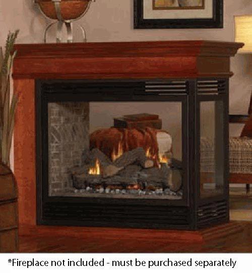 White Mountain Hearth EMPB Peninsula Mantel Base for Breckenridge Premium Multi-Sided Firebox