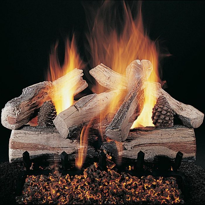 Rasmussen DF-EXF-Kit Double Sided Evening CrossFire Series Complete Outdoor Fireplace Log Set