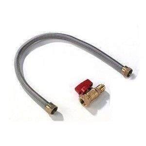 Napoleon FC-12 12-Inch Stainless Steel Gas Flex Connector & Shut Off, Case of 25