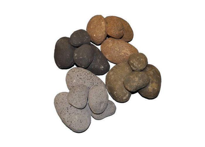 Hearth Products Controls FPR84MC Multicolor Ceramic Fiber River Rock, 1/2 Cubic Foot