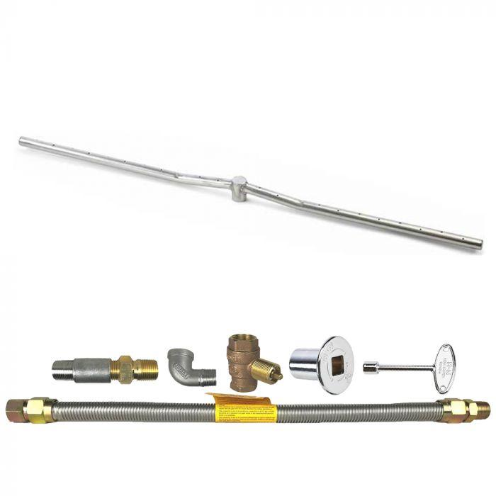 Spotix HPC Match Lit Fire Pit Burner Kits, Linear Interlink Burner