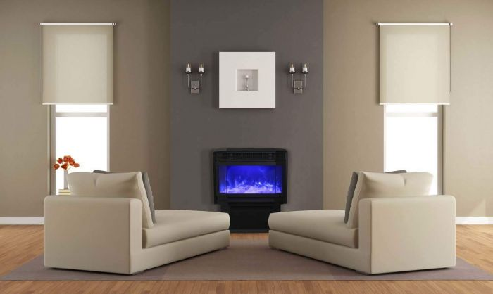 Sierra Flame by Amantii FS-26-922 Freestanding Electric Fireplace