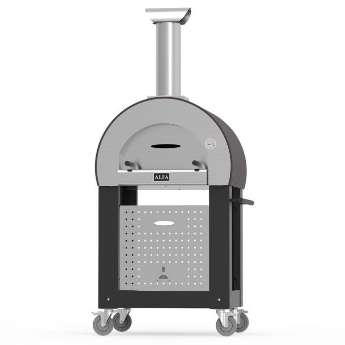 Alfa FX5MIN-LRAM-T 5 Minuti 23-Inch Wood-Fired Pizza Oven on Cart