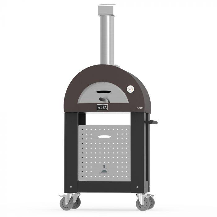 Alfa FXONE-LRAM One 23-Inch Wood-Fired Pizza Oven on Cart
