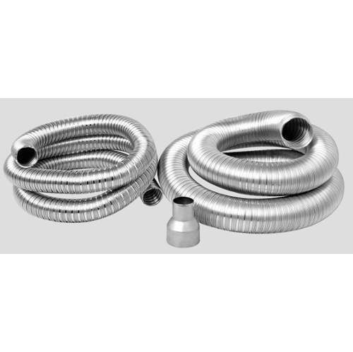Napoleon GDI-23 Vent Kit 1-2 Inch & 1-3 Inch Double Ply Aluminum Liner-Inlet and Exhaust w/ 2-3 Inch to 2 Inch Reducer