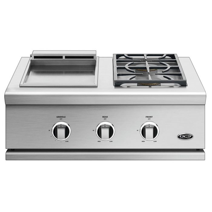 DCS GDSBE1-302 Series 9 30-Inch Built-In Double Side Burner and Griddle Combo