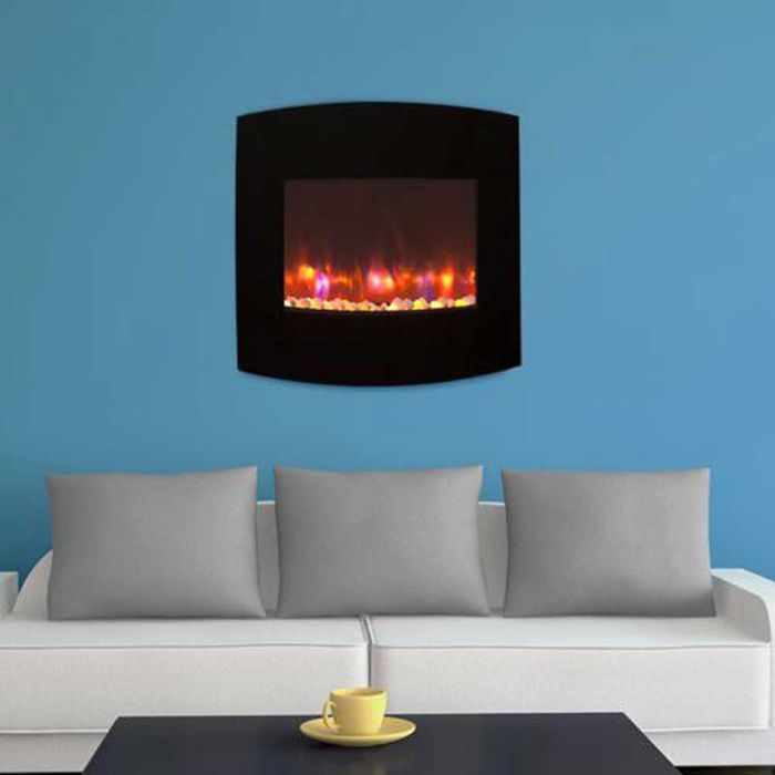 GreatCo Gallery Series Wall Mount/Built-in Electric Fireplace - LifeStyle