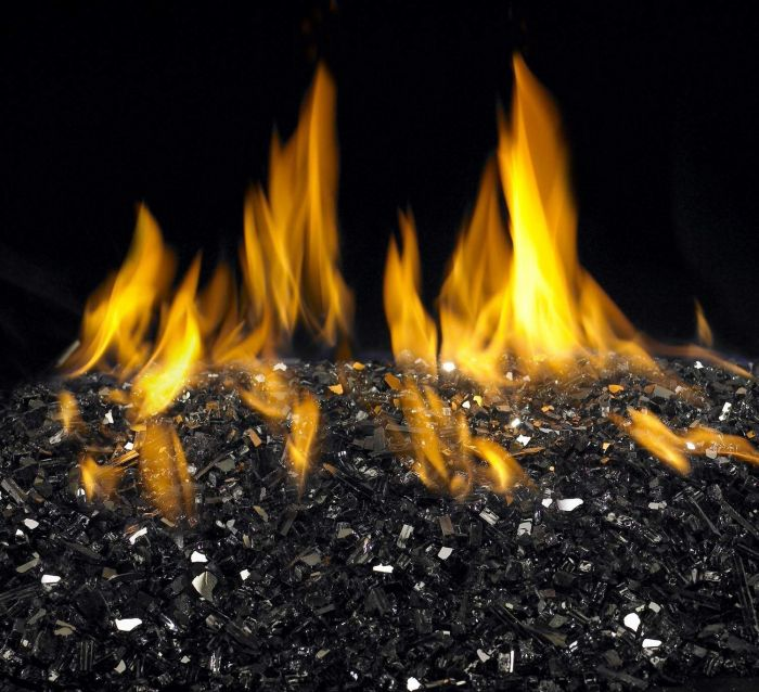 American Fyre Designs Black Reflective Fyre Glass