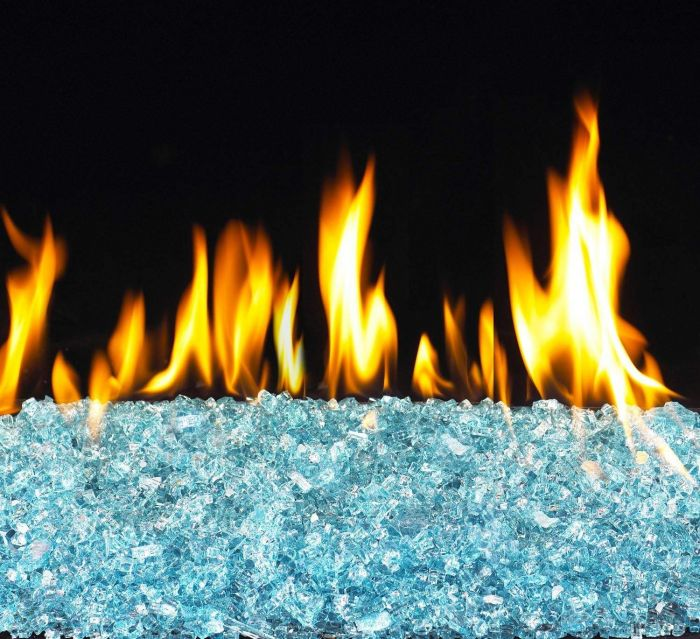 Real Fyre PB Series Vented Glass Burner with Copper Reflective Fire Glass