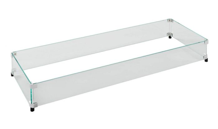 The Outdoor GreatRoom Company GLASS-GUARD-1242 Glass Guard for CF-1242 Burner, 44.5x15.5-Inch