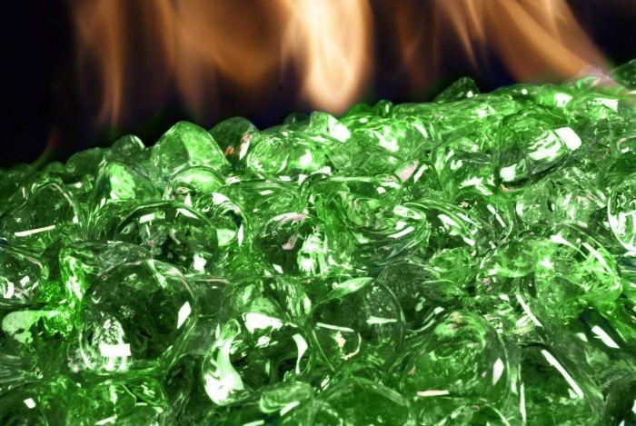 American Fyre Designs Emerald Diamond Nugget Fire Glass