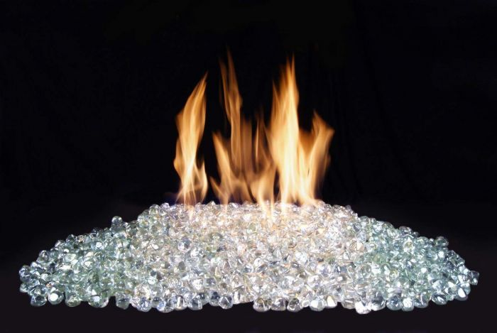 American Fyre Designs Clear Diamond Nugget Fire Glass