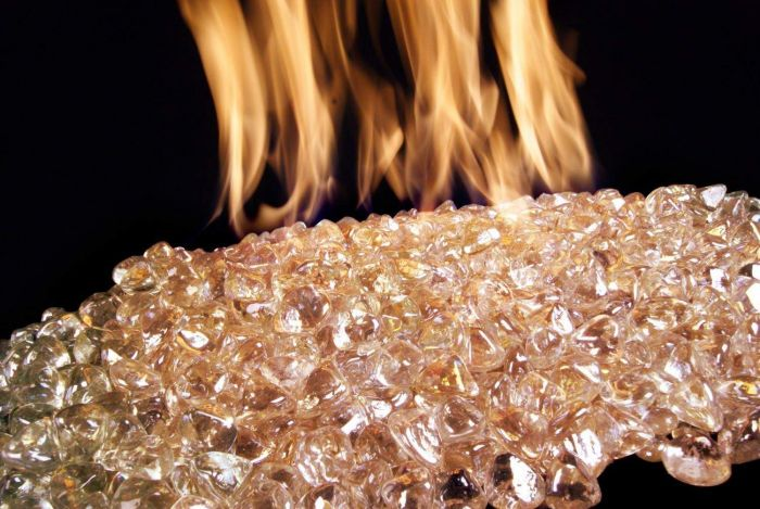 American Fyre Designs Rose Diamond Nugget Fire Glass