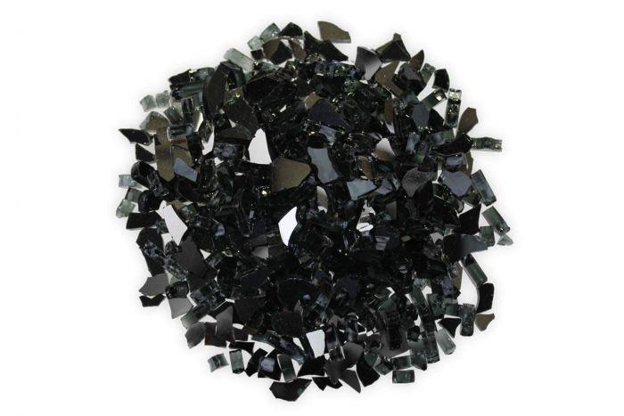 Firegear GRL-BLACK  5-Pound Reflective Broken Fire Glass, 1/2 to 3/4-inch, Black