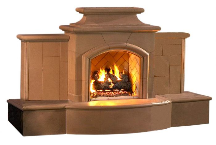 American Fyre Designs Grand Mariposa Outdoor Gas Fireplace