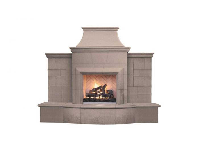 American Fyre Designs Grand Petite Cordova Outdoor Gas Fireplace