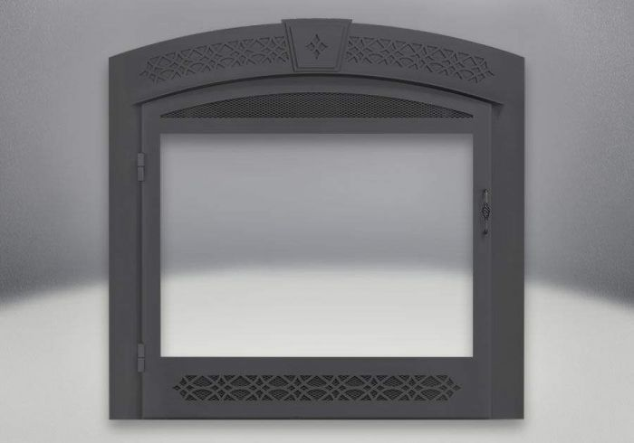 Napoleon GX427K Decorative Black Faceplate with Operable Screen for GX36/GX70 Fireplaces