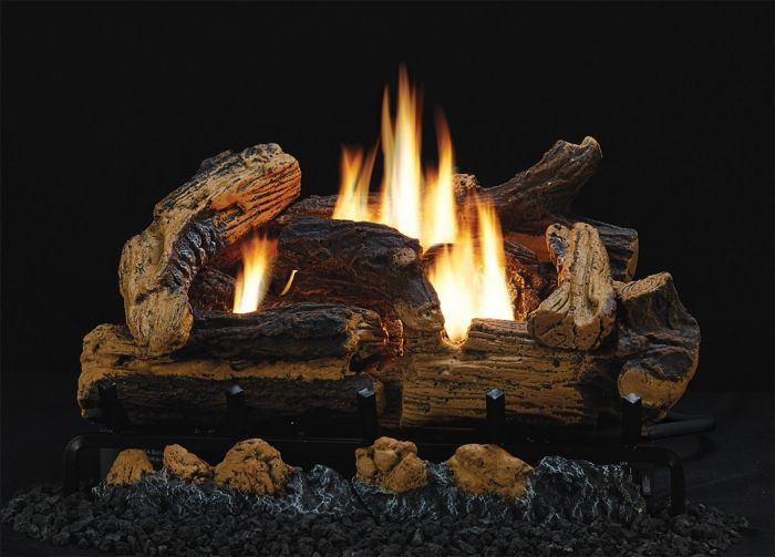 White Mountain Hearth HLSxxR-Set Refractory Kennesaw Complete Fireplace Log Set