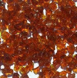 Warming Trends 1-Pound Recycled Fireglass, 3/4-Inch, Burnt Orange