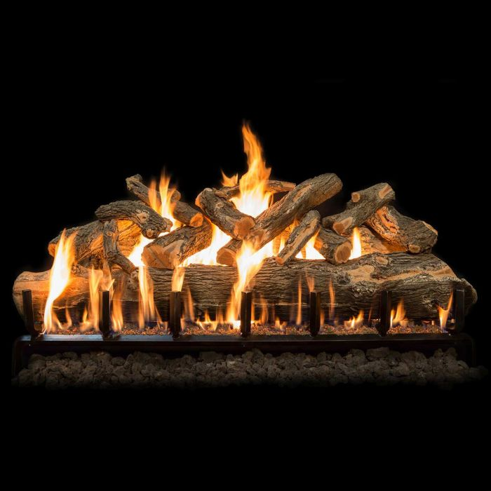 Grand Canyon Arizona Weathered Oak Jumbo Slimline Vented Gas Log Set with Stainless Steel Burner