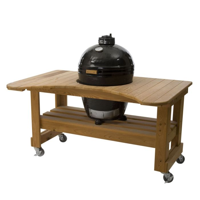 Primo Round Kamado Grill in Cypress Table