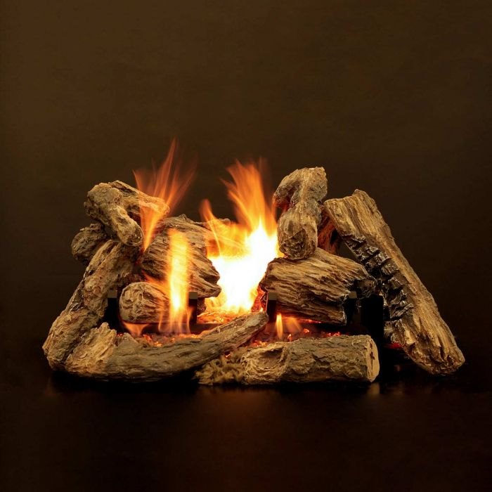 White Mountain Hearth LKF Kensington Forest Ceramic Fiber Gas Logs Only