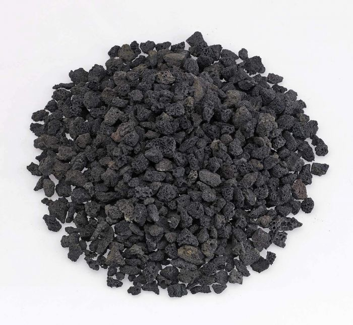 American Fireglass 10-Pound Black Lava Rock, Small .25-.5 Inch