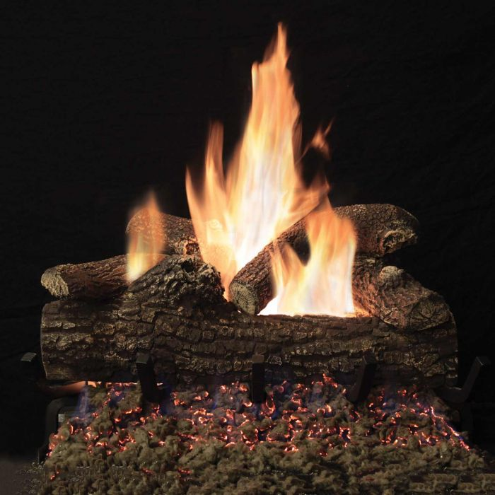 White Mountain Hearth LGLOxx Great Lakes Oak Refractory Gas Logs Only