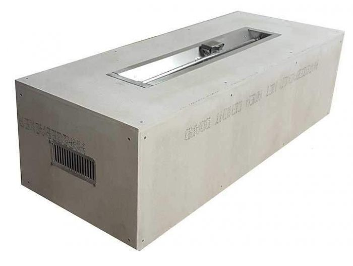 Hearth Products Controls Rectangular 60 x 24 Inch Unfinished Fire Pit Enclosures for 36 Inch Trough Pans