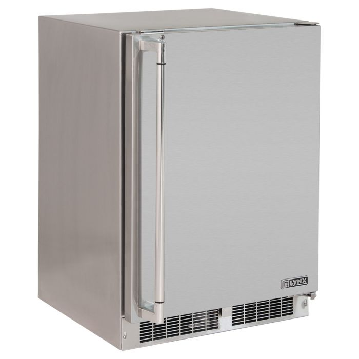 Lynx Stainless Steel Outdoor Refrigerator, 24-Inch