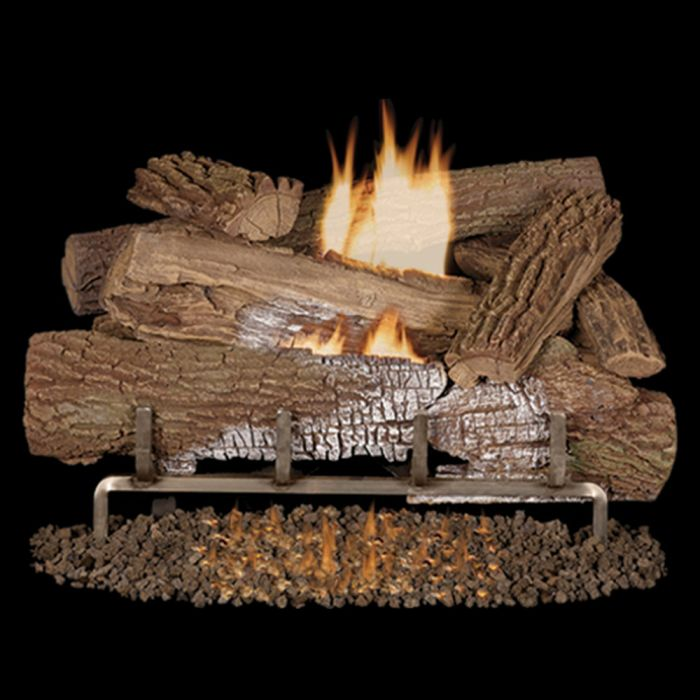Superior LMFMO-OUT Vent-Free Concrete Mossy Oak Outdoor Gas Log Set