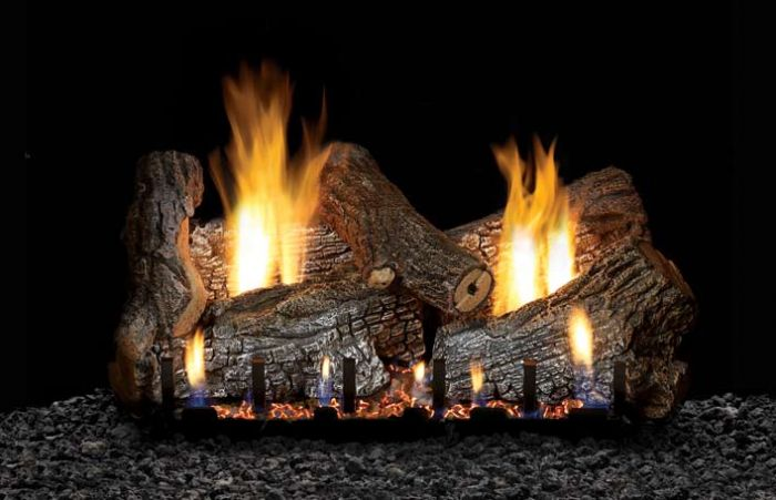White Mountain Hearth LSxxRS-Kit Refractory Sassafrass Complete Fireplace Log Set