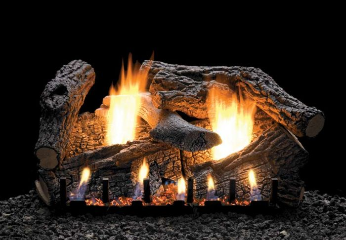 White Mountain Hearth LSxxSS-Kit Refractory Super Sassafrass Complete Fireplace Log Set